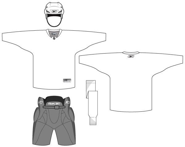 hockey uniform template vector free