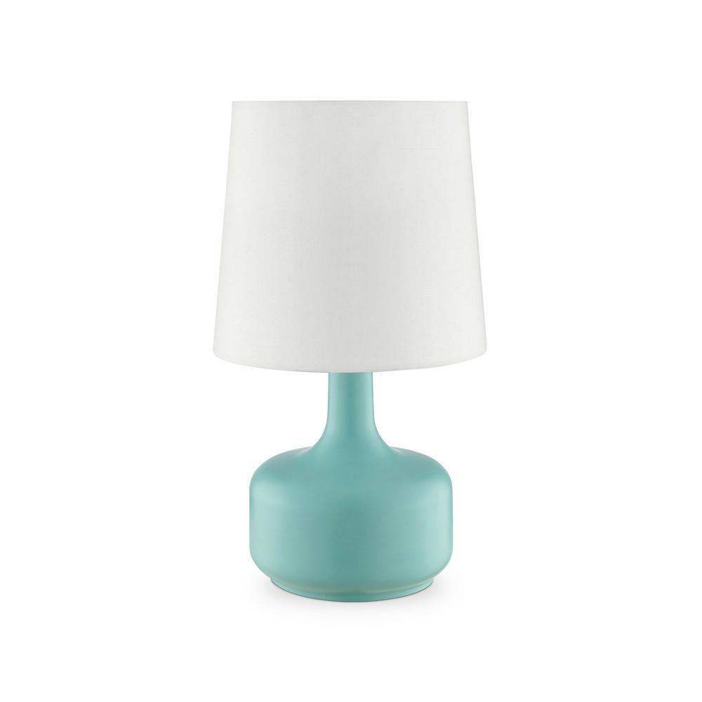 Ore International Cheru 17 25 In Powder Green Touch On Table Lamp