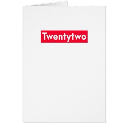 Twenty Two Years Old Funny 22nd Birthday Card