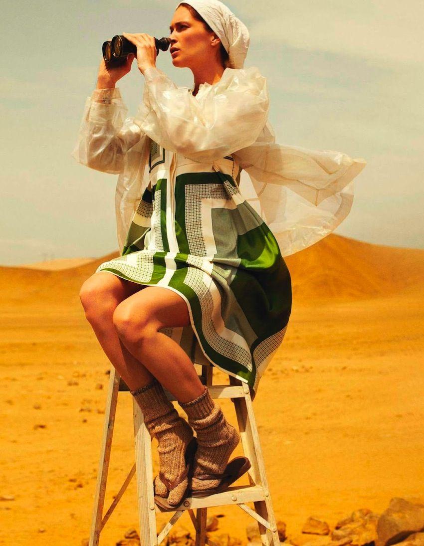 Smile: Erin Wasson in Vogue Paris April 2013 by Mario Testino
