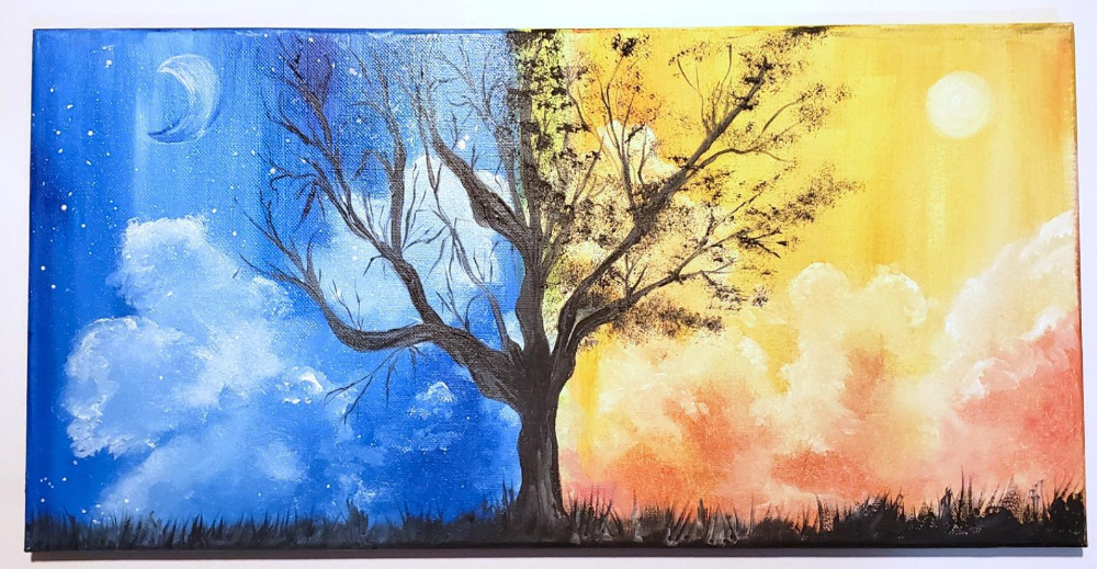 tree forest nature landscape art poster shabby chic wall decor US SELLER