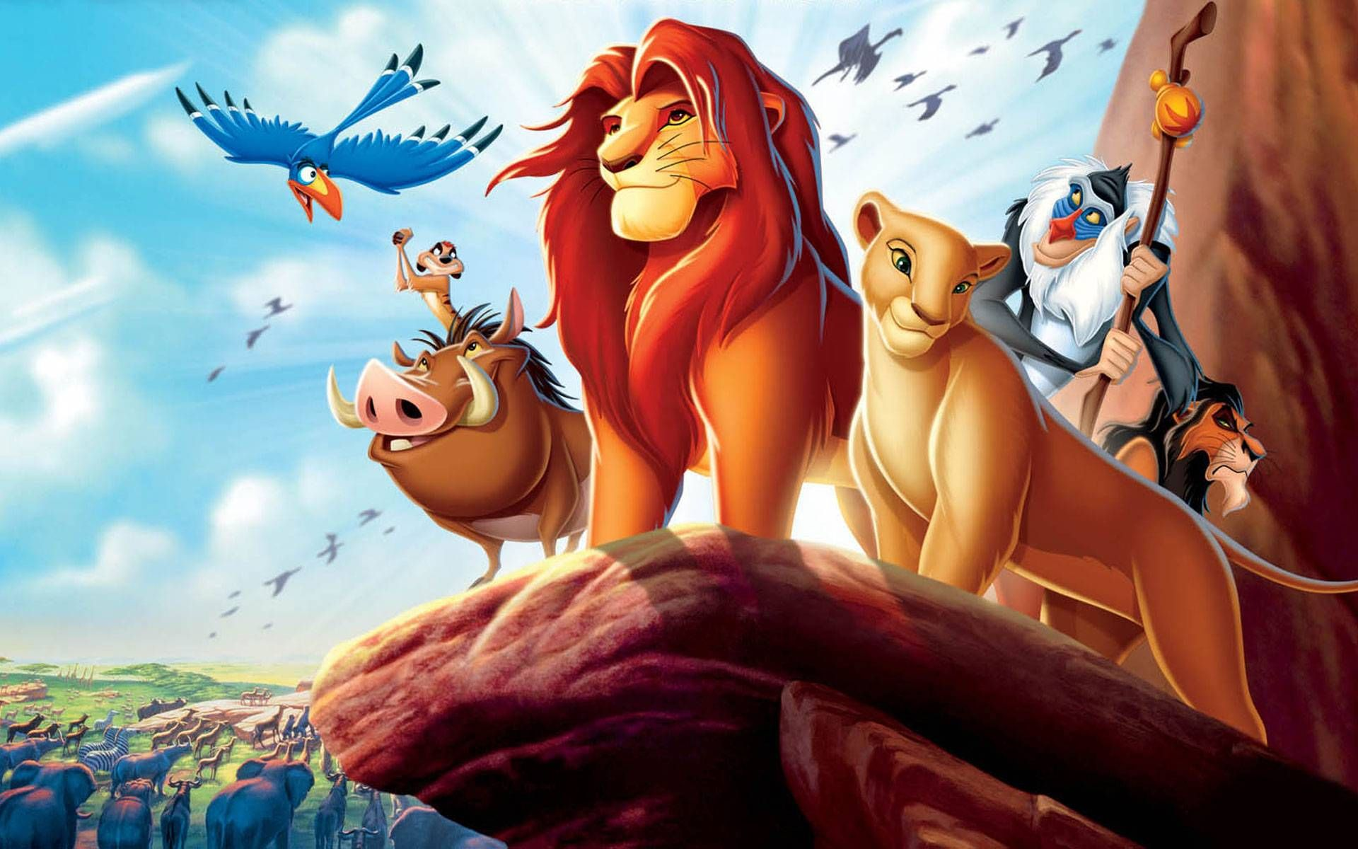 The Lion King 1994 Some Time Later The Animals Of The Pride Lands Gather Once Again At Pride Rock Cheering At Simba And Nala As They Overlook The Disney Songs
