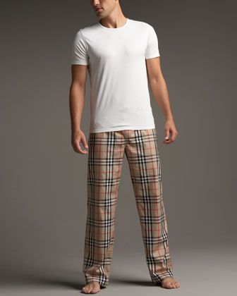 b9ab682860 Burberry Check Pajama Set - Men s PJ pants are comfier and usually include  pockets!