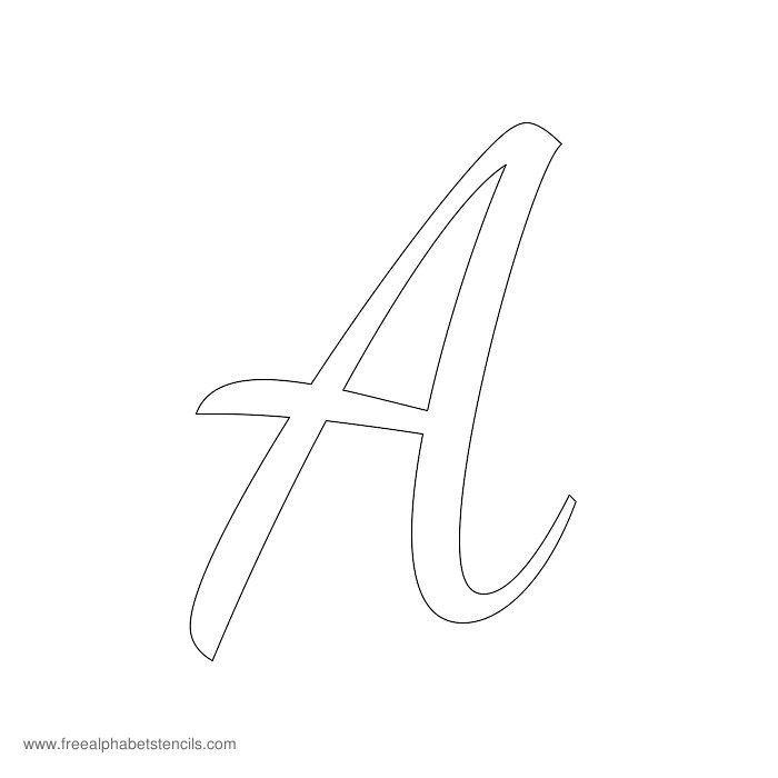 Read Article: 1950s Casual Cursive Alphabet Stencils