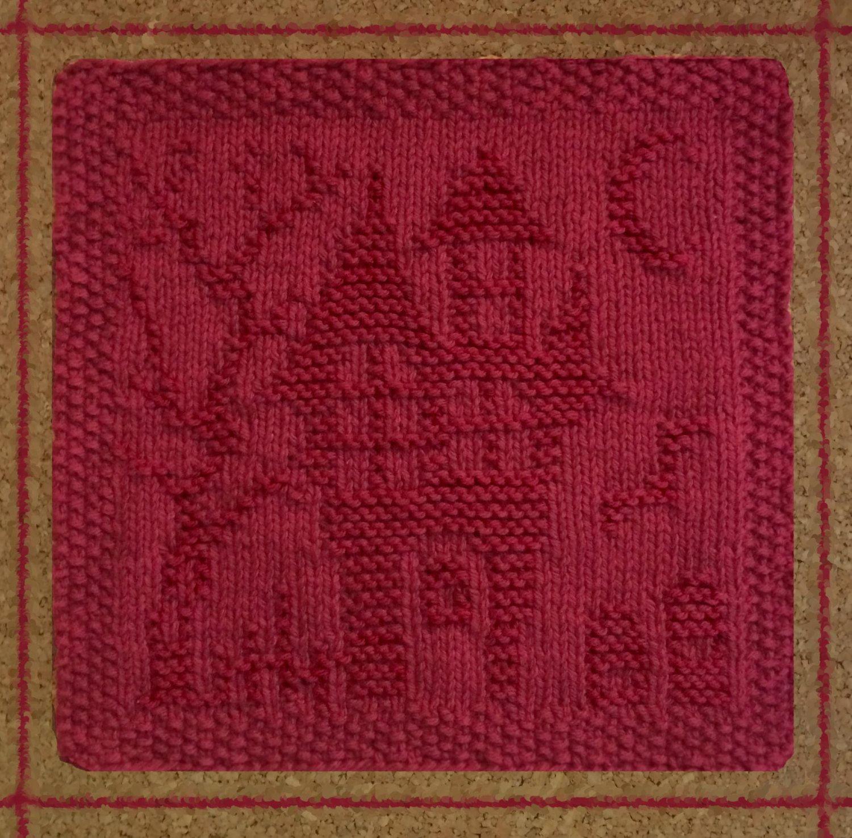 haunted house dishcloth, halloween, knit dish cloth, graveyard ...