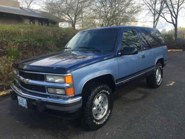 1987 1988 1989 1996 1997 1998 1999 2 Door Tahoe Gmc Yukon K 5 Blazer