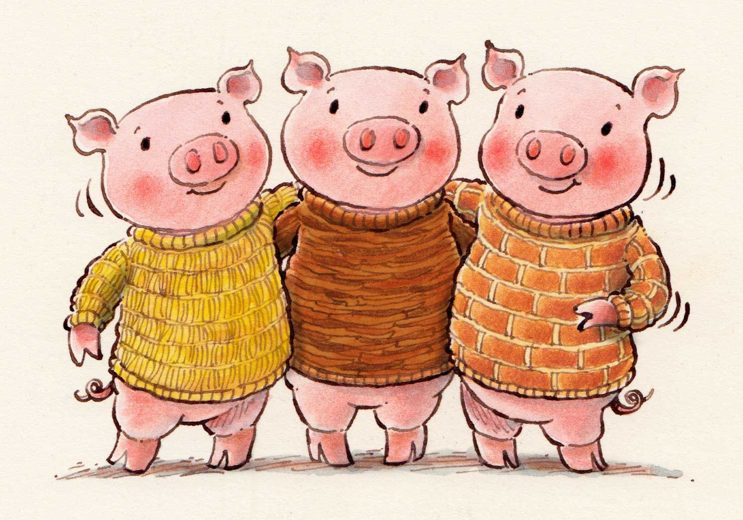 Another Pic For Daily Doodle The Three Little Pigs In
