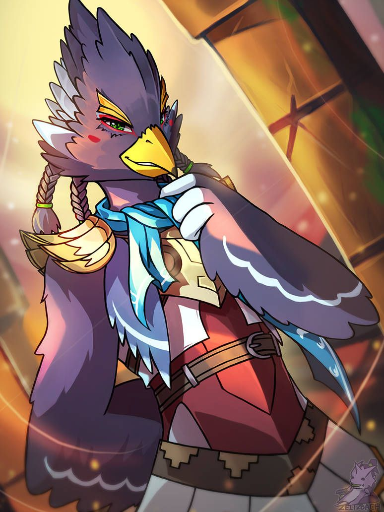 Legend Of Zelda Breath Of The Wild Art Rito Champion Revali