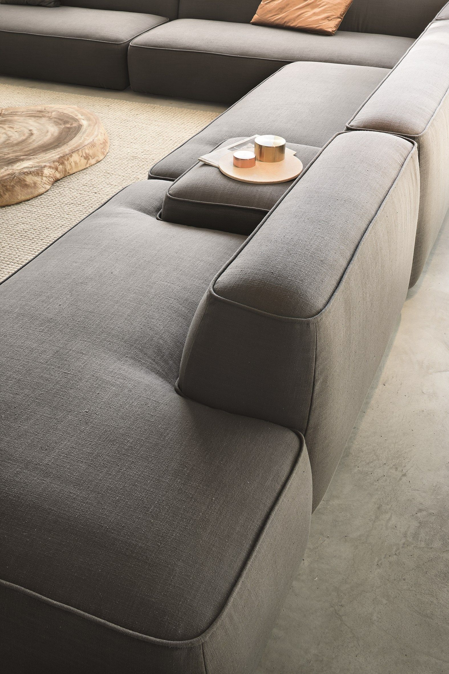 Sectional fabric sofa CLOUD lemamobili