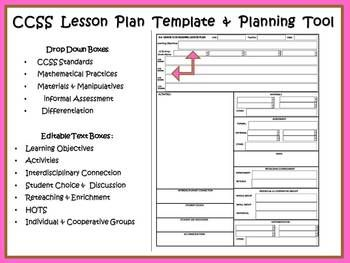 RdLessonPlanTemplatesOPSBCCSSCOMPASSDanielsonMathReading - Sample common core lesson plan template