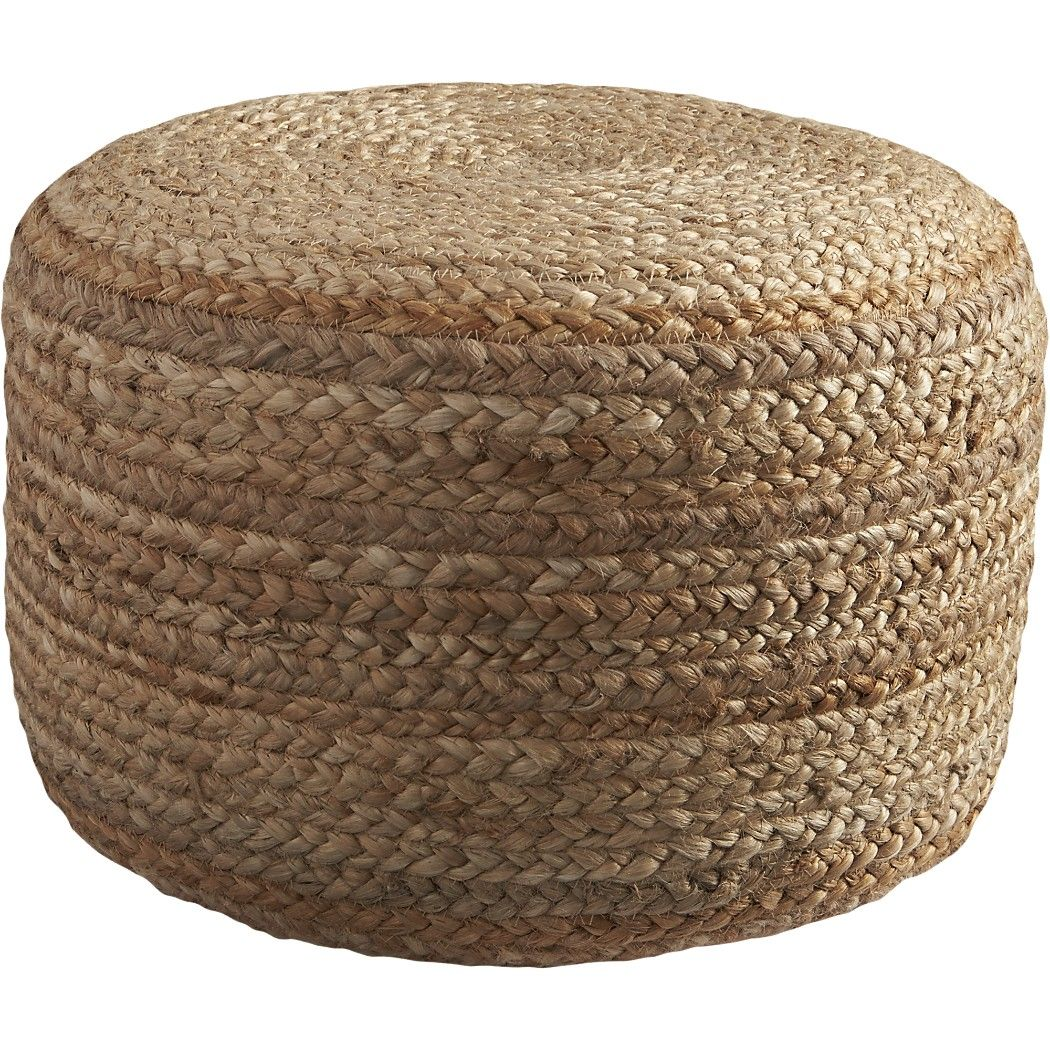 Braided Jute Pouf Pouf Outdoor Pouf Online Interior Design