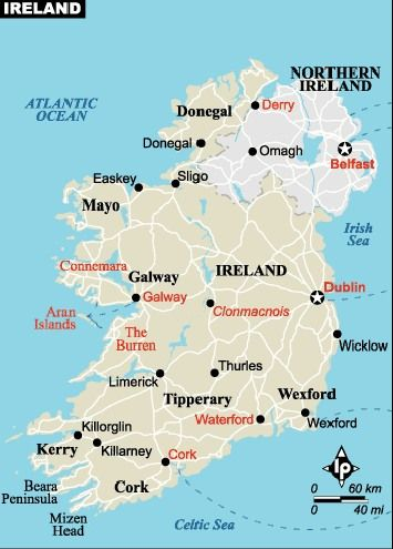 Galway On Map Of Ireland.Galway Is Located On The Western Coast Of Ireland It S A Medieval