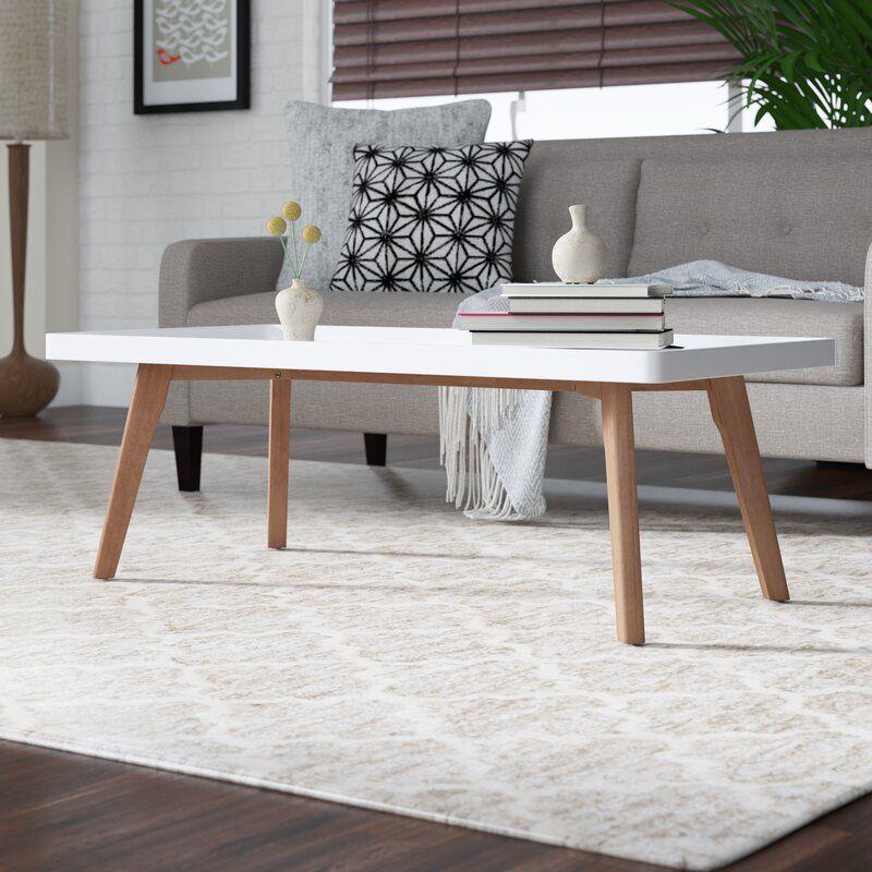 Simmerman Raised Edge Coffee Table Coffee Table Rectangle