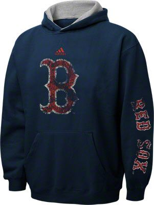 size 40 b0858 b65f2 Boston Red Sox Navy Youth Vintage Fleece Hooded Sweatshirt ...