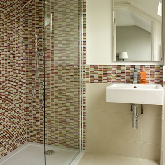 White Bathroom With Mosaic Tiles Decorating Style Home See More Surprise Your Guests