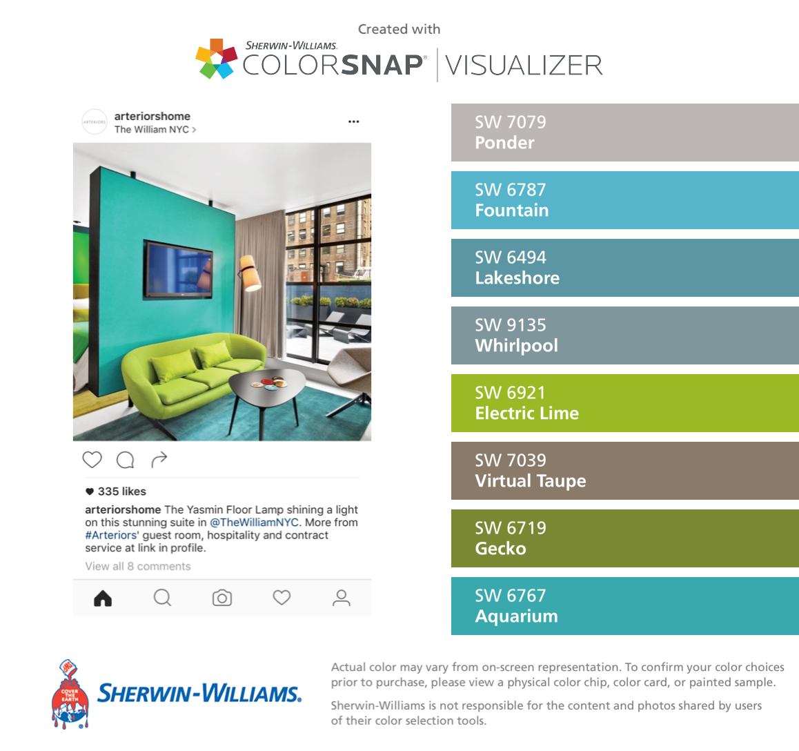 Web colors lime - I Found These Colors With Colorsnap Visualizer For Iphone By Sherwin Williams Ponder