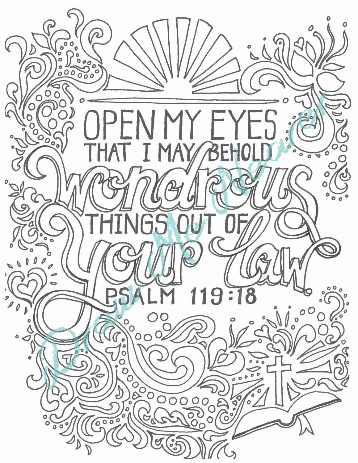 Printable Christian Coloring Page Illustrated By DrawMeNearer