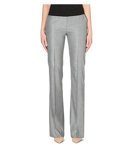 MAX MARA Slim-Fit Straight-Cut Suit Trousers. #maxmara #cloth #trousers