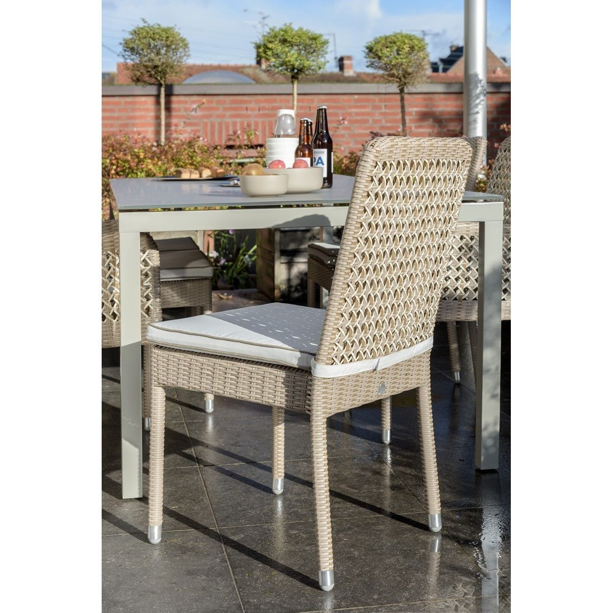 Chaise De Jardin Antibes Avec Coussin - Taille : Taille ...