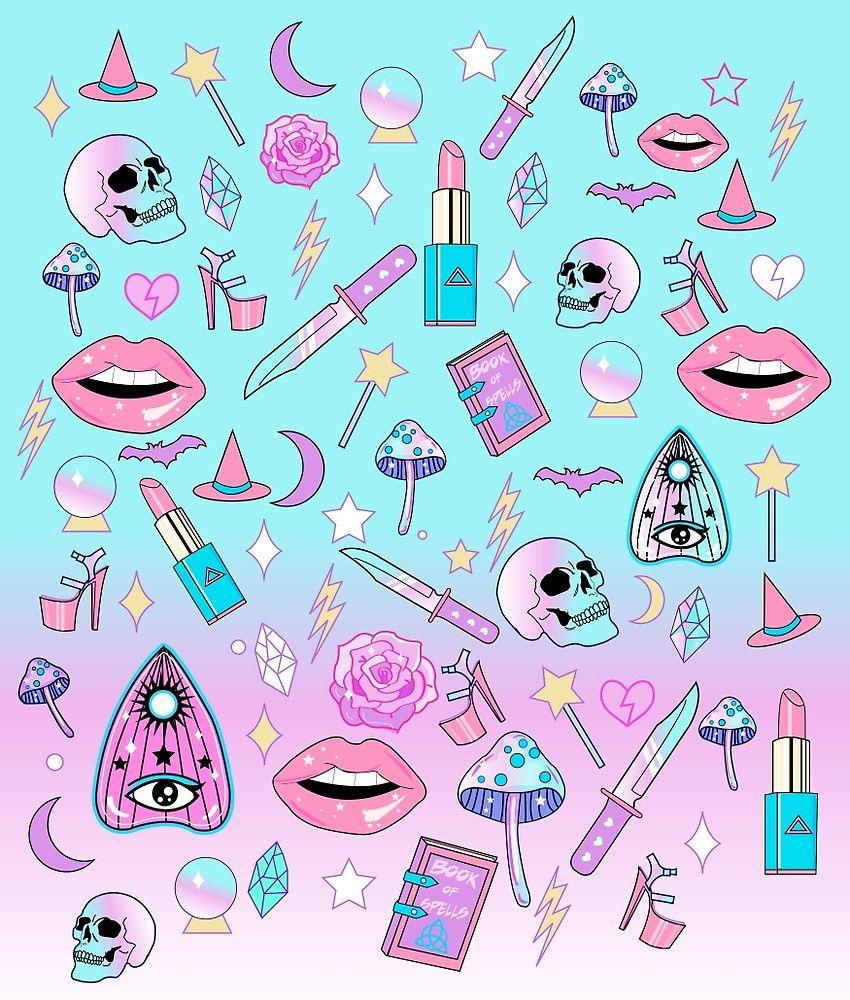 Pastel Goth Aesthetic Background