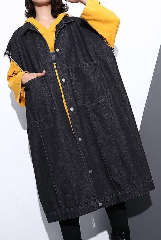 f838d7659e6 boutique-black-coat-plus-size-Stand-pockets-maxi-coat-2018long-sleeve-baggy- Coats