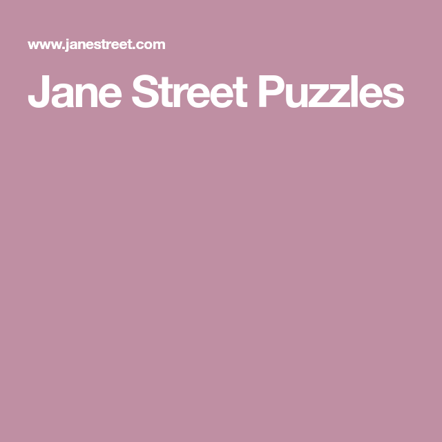 Jane Street Puzzles | Raising Gifted Kids | Puzzle, Gifted