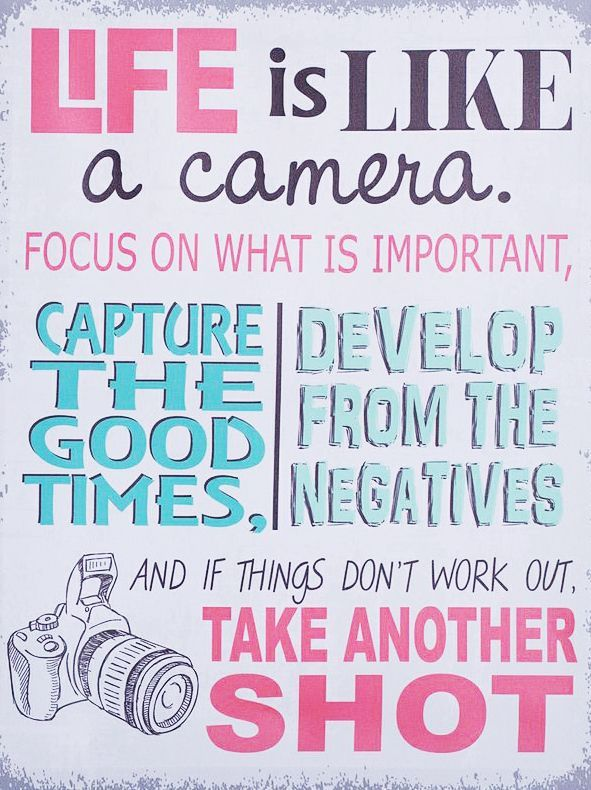 Posters · Wisdom Quotes · Life Is Like A Camera. Focus On What Is  Important, Capture The Good Times