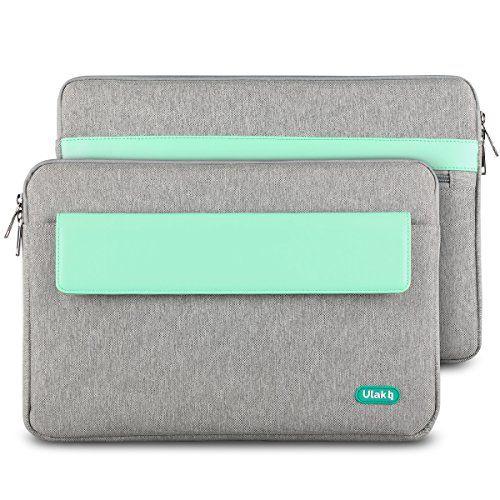 ULAK Soft Sleeve Bag Case Cover for Apple MacBook Pro 13-inch / MacBook 12-inch /MacBook Air 11.6-inch Laptop (Grey+Mint Green) ULAK http://www.amazon.com/dp/B015IRHYLW/ref=cm_sw_r_pi_dp_xdkkwb1TZ422J