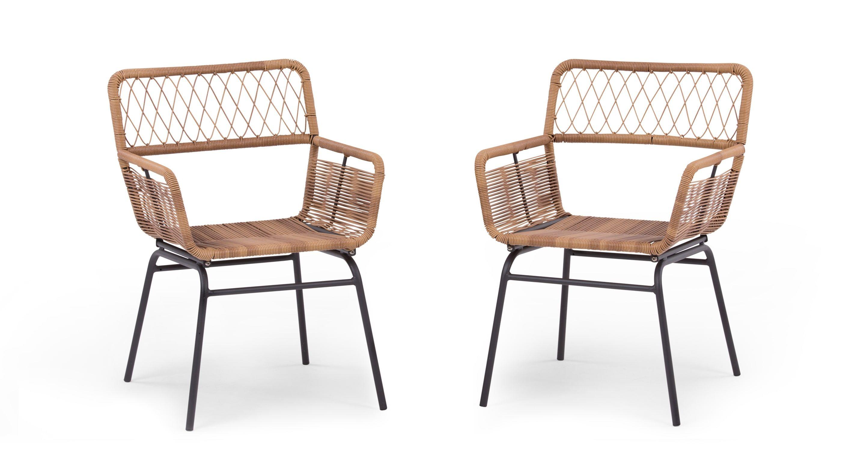 Gartenstühle  Lyra 2 x Gartenstühle, Anthrazit | Dining chair set, Outdoor ...