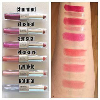 La Colors Lipgloss Lipstick Duos Lipgloss Swatches La Colors