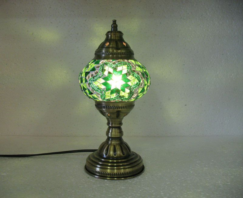 Green mosaic glass table lamp tischlampe moroccan lantern lampe green mosaic glass table lamp tischlampe moroccan lantern lampe mosaique m 13 handmade moroccan aloadofball Image collections