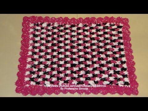 Passo a passo tapete Crochê Soft 3 cores  d0ef673b9f7