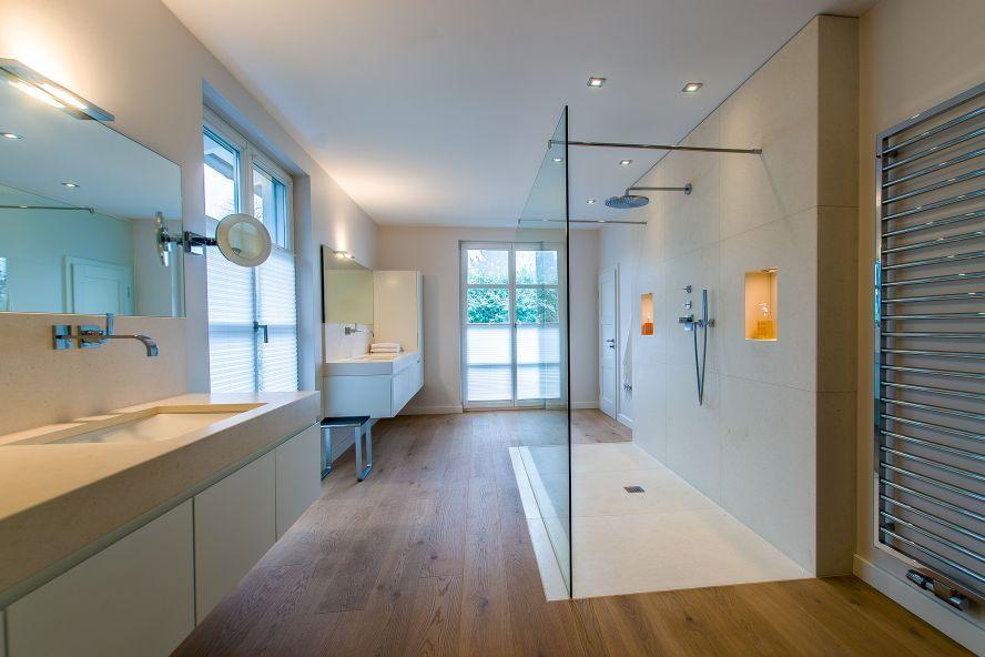 naturstein badezimmer dusche boden waschtisch schampoofach crema, Hause ideen