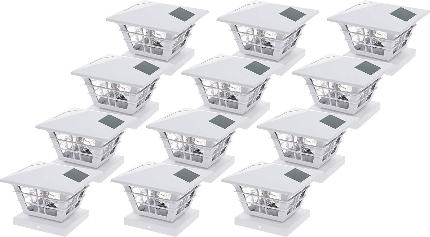 Greenlighting 5x5 Solar Post Cap Light With 4x4 Base Adapter White 12 Pack Check This Awesome Product By Goin Solar Post Caps Solar Post Lights Post Cap