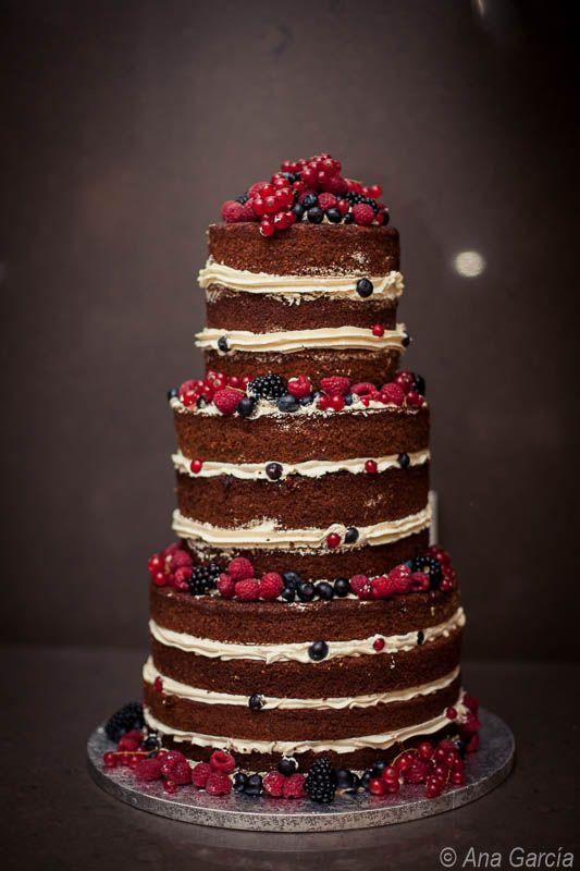 Naked Hochzeitstorte Mit Waldbeeren Wedding Cake Pinterest