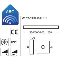Photo of Top Light Only Choice Wall + wall light, chrome matt, please specify desired installation in the comment field 35