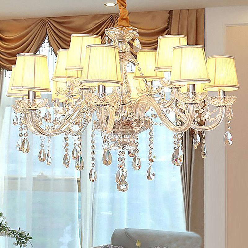 Kristall Kronleuchter Transparent Kerzen Design für