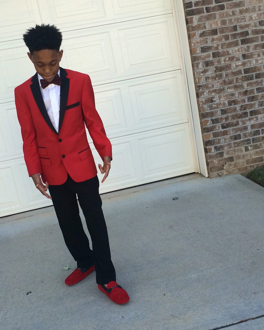 d486453ed Boys prom red cute swag