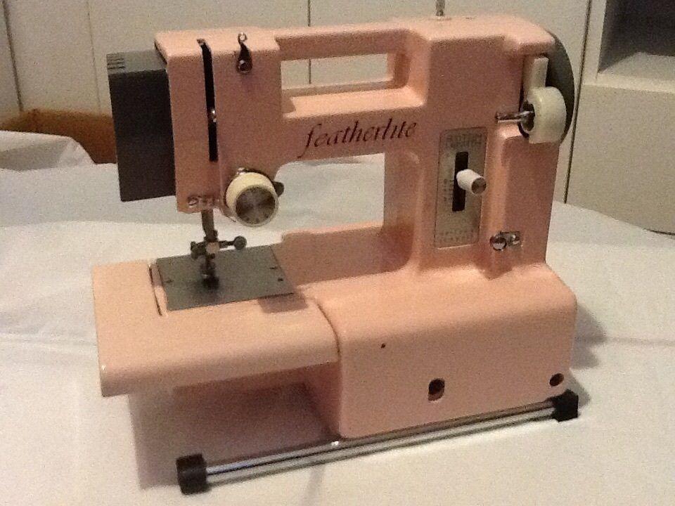 FEATHERLITE PORTABLE SEWING MACHINE PINK Vintage Sewing Machines Custom Featherlite Sewing Machine Pink