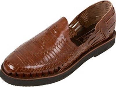 Men's Closed Toe Huarache Sandals - Brown - MEXICAN HUARACHES - Leather  Sandals