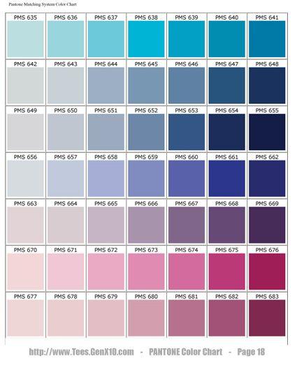 Pantone Color Chart Pms Colours Pinterest Pantone Color
