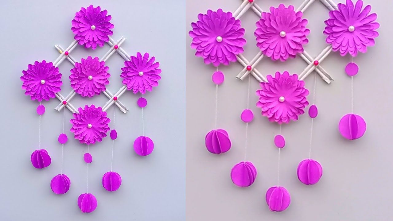 Diy Paper Craft Ideas Easy Wall Hanging Room Decoration Ideas