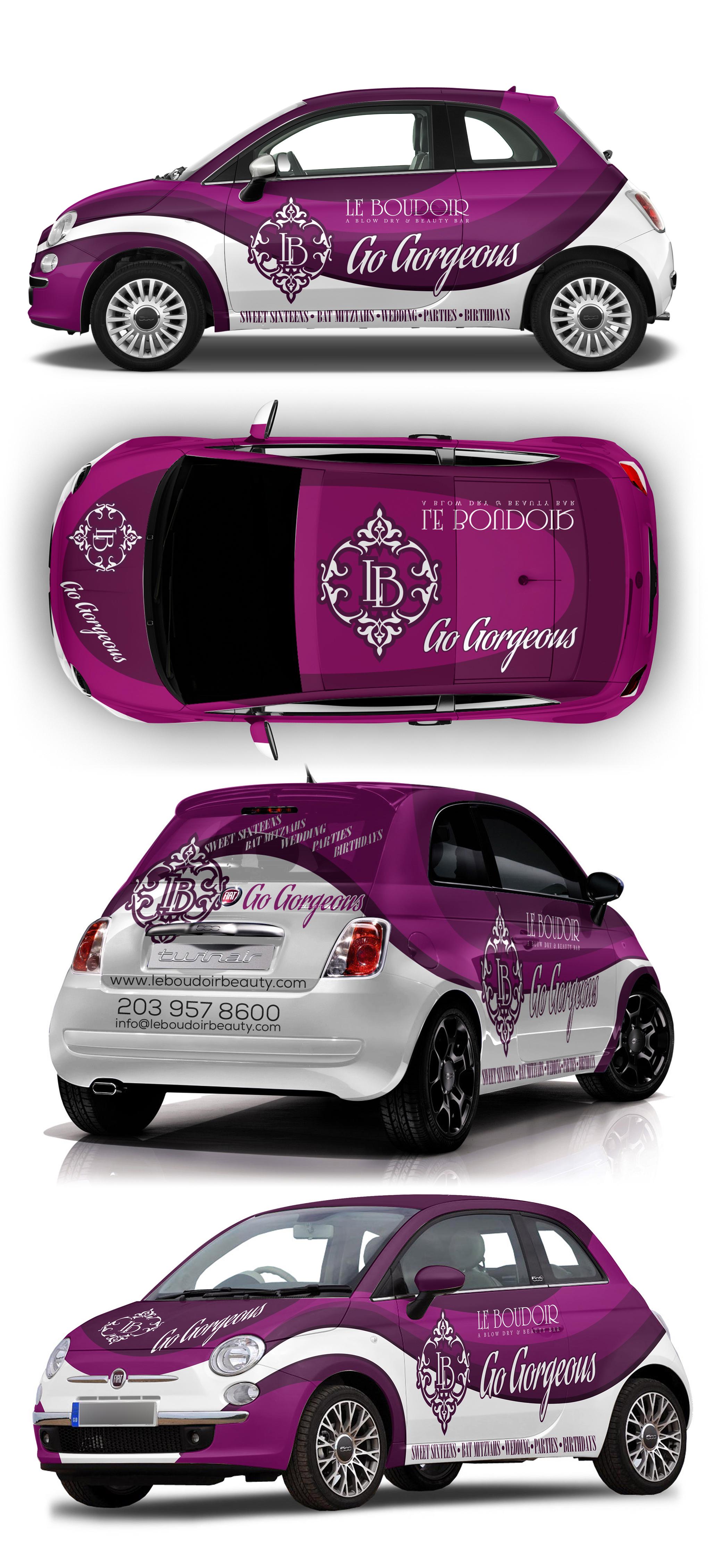 Luxurious car wrap for mobile beauty services Plotagem