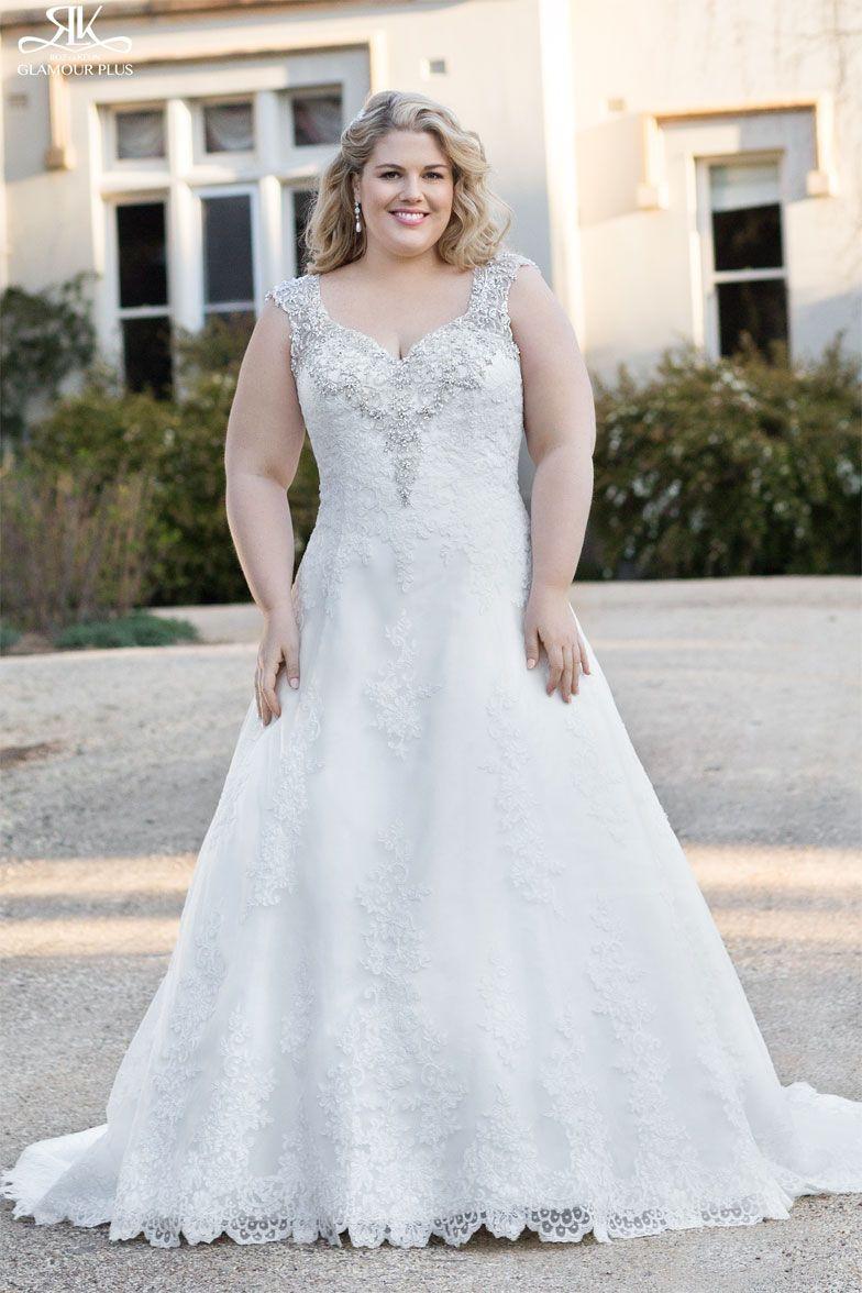 Plus size pin up style wedding dress  Pin by The Bridal Secret on Roz La Kelin  Glamour Plus  Pinterest