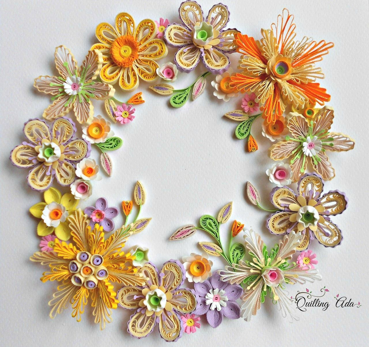 Quilling Paper Flowers Wall Hanging Quilled Flowers Pinterest