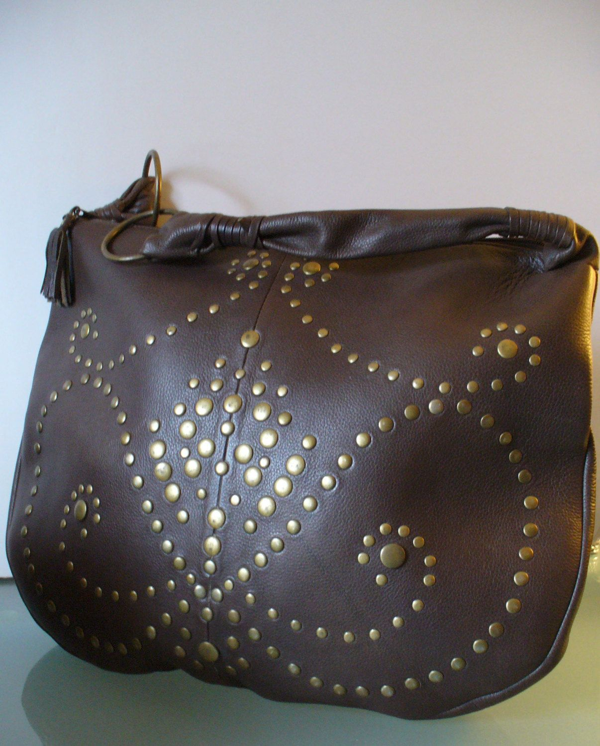 Wilson Leather Large Studded Rockabilly Bag Wilsons