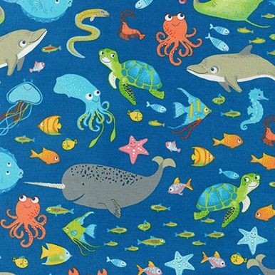 A cute cotton fabric from Robert Kaufman