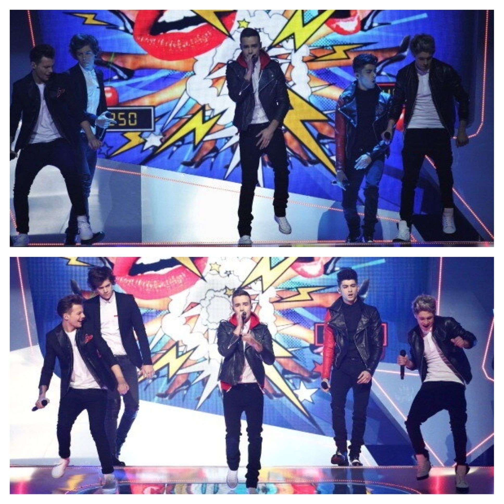 One Direction 2013 Brit Awards haha love Niall and Louis dance!