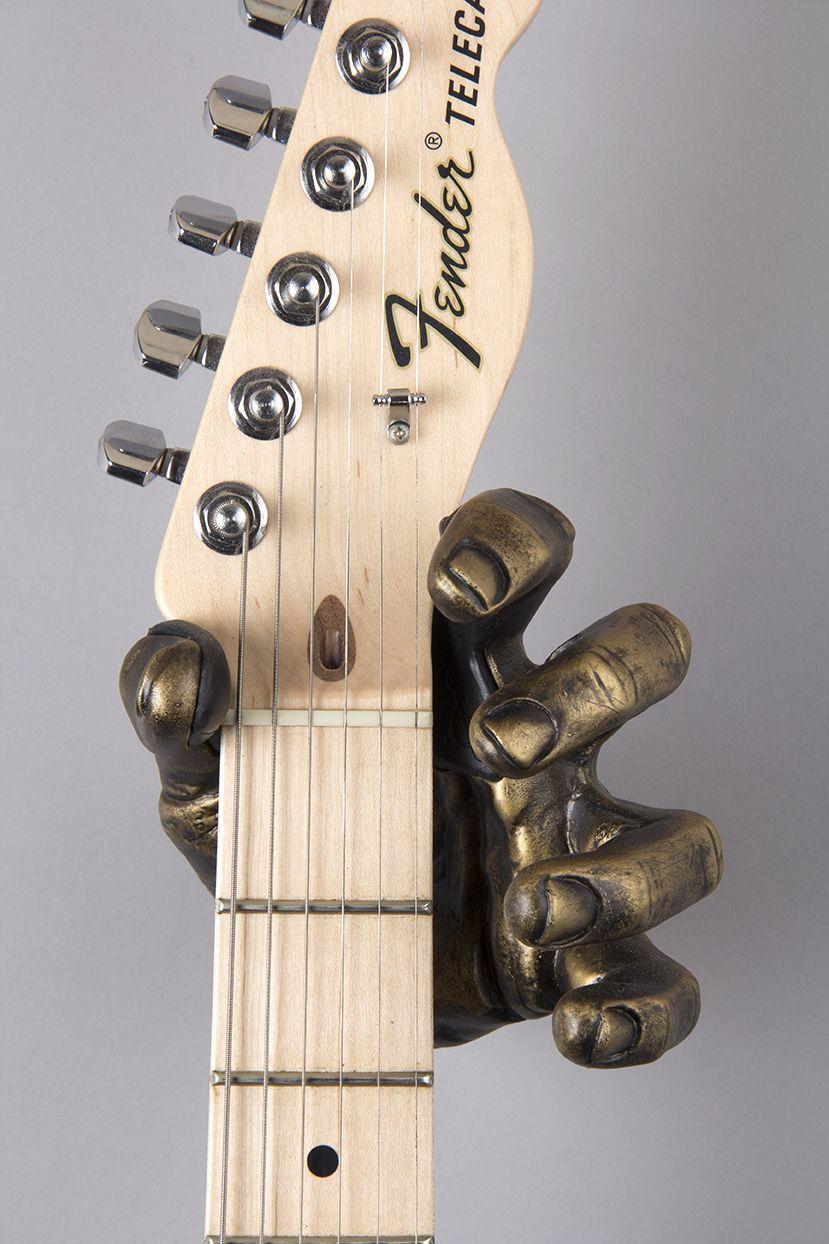 diy guitar hanger for wall