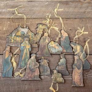 Nativity Ornaments, Set of 12 Nativity ornaments